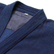 画像3: 剣道着「武州一」 一重上製細身「正藍染」#140 1.0号(国産・本藍先染め)適応身長150cm (3)