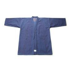 画像1: 剣道着「武州一」 一重上製細身「正藍染」#140 1.5号(国産・本藍先染め)適応身長155cm (1)
