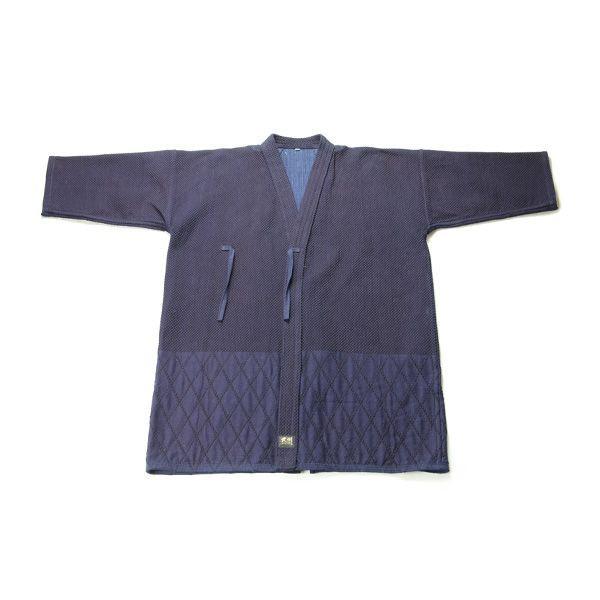 画像1: 剣道着「武州一」二重最上「勝気」 #220 4.5号(国産・本藍先染め)適応身長185cm (1)